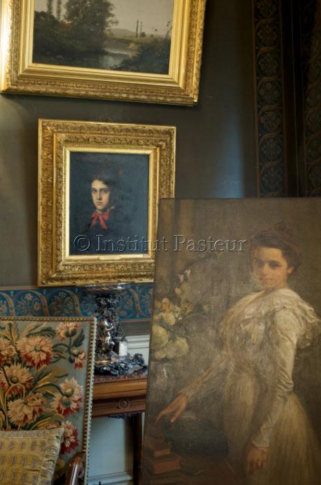 Tableaux dans le Grand salon - Musée Pasteur