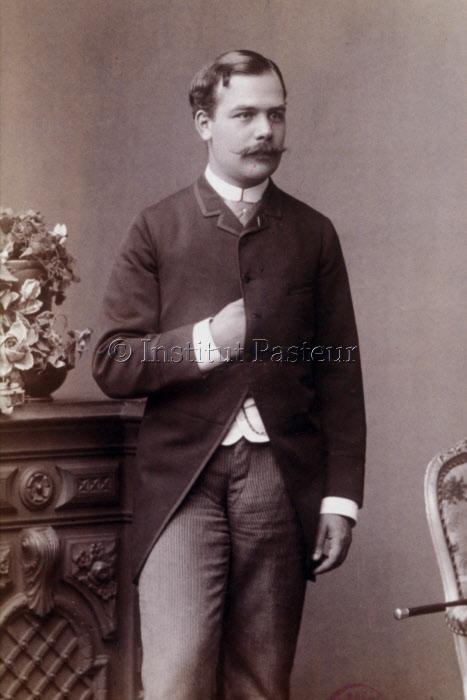 René Vallery-Radot, gendre de Louis Pasteur à Copenhague, 1884.