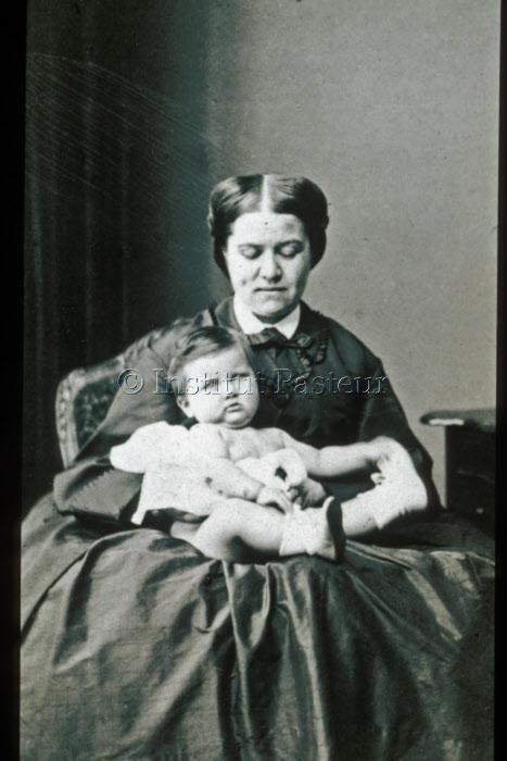 Madame Pasteur et sa fillle Camille en 1864
