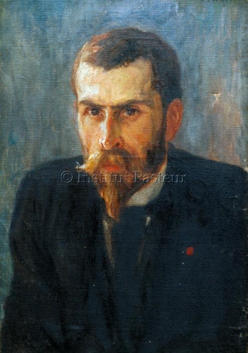 Emile Roux, huile sur toile d'Albert Edelfelt, 1895