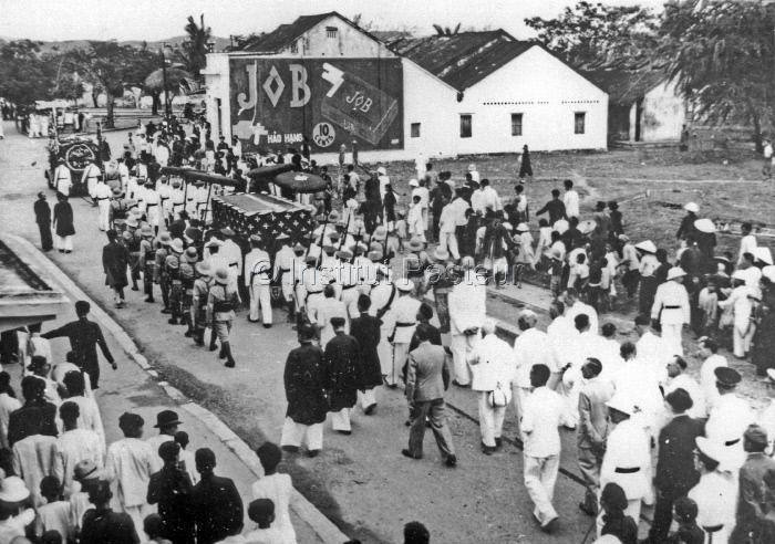 Obsèques d'Alexandre Yersin à Nha Trang (Vietnam) le 3 mars 1943