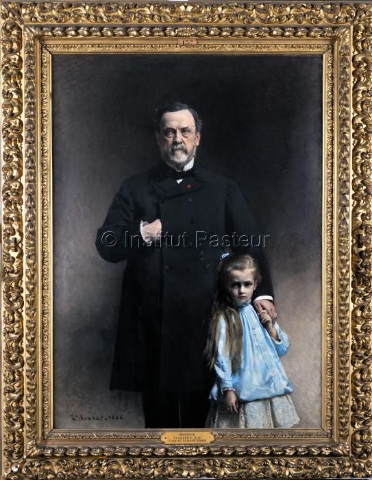 Louis Pasteur avec sa petite-fille Camille Vallery-Radot, 1886