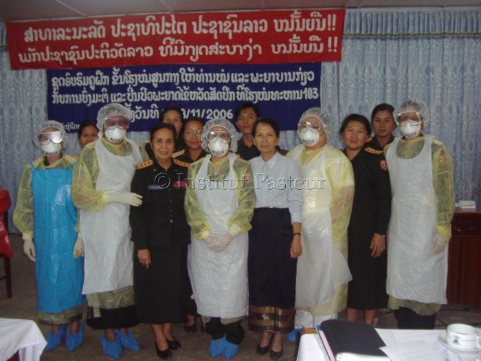 Atelier national sur la lutte contre la grippe à l'Institut Pasteur du Laos