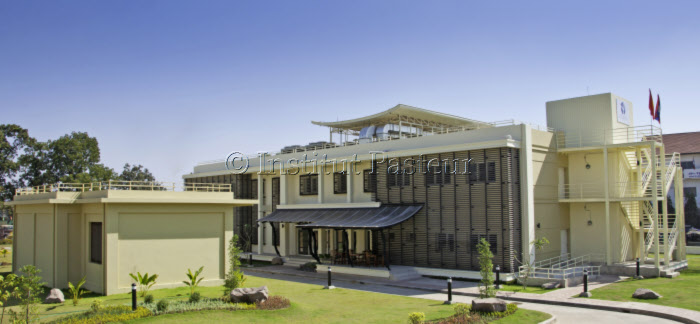 Vue de l'Institut Pasteur du Laos, inauguré le lundi 23 janvier 2012 à Vientiane.