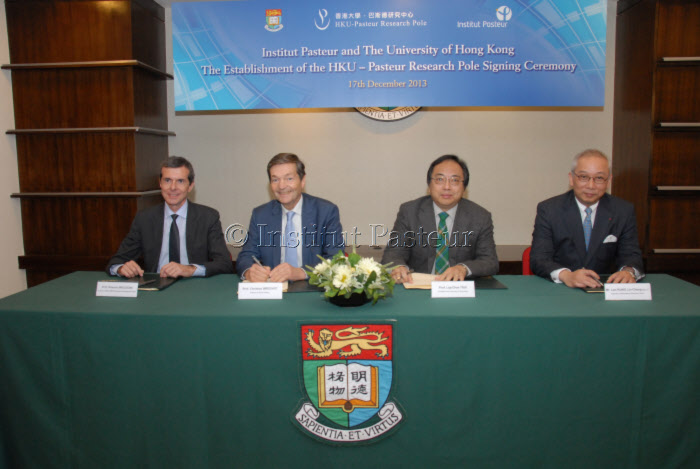 L'Institut Pasteur et l'Université de Hong Kong renouvellent leur partenariat