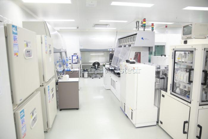 Institut Pasteur de Corée. Laboratoire de sécurité niveau 3 (BSL3)