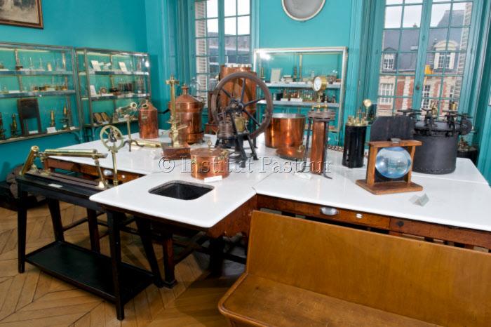Salle des souvenirs scientifiques au musée Pasteur, Institut Pasteur, Paris