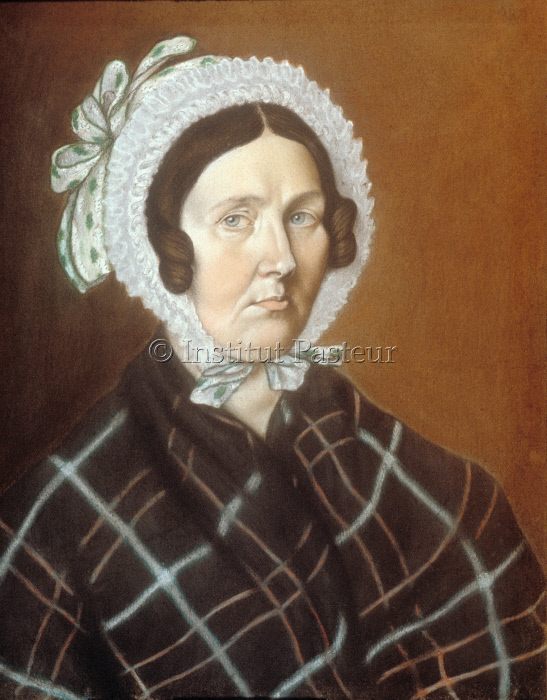 Jeanne-Etiennette Pasteur, mère de Louis Pasteur, pastel exécuté par Louis Pasteur en 1836
