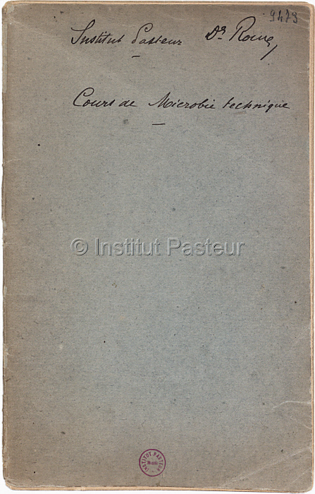 Programme du cours de microbie technique, 1889