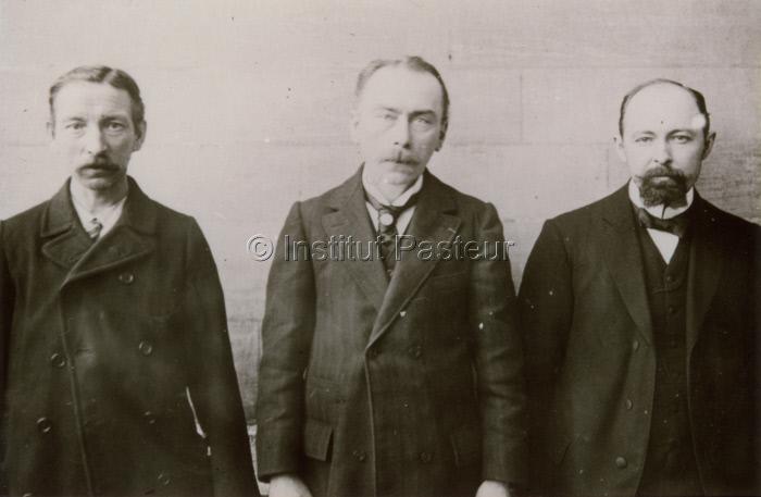 Lucien Houman, Jules Bordet et Octave Gengou en 1901